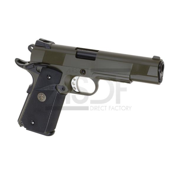 WE - M1911 MEU Tactical Full Metal GBB OD-24166